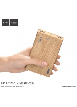 B12B-13000 Wood Grain Power Bank