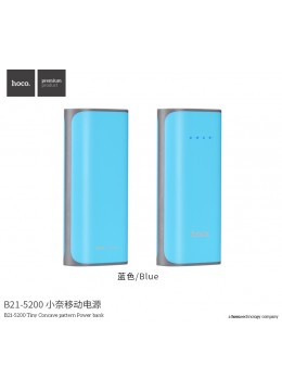 B21-5200 Tiny Concave Pattern Power Bank - Blue