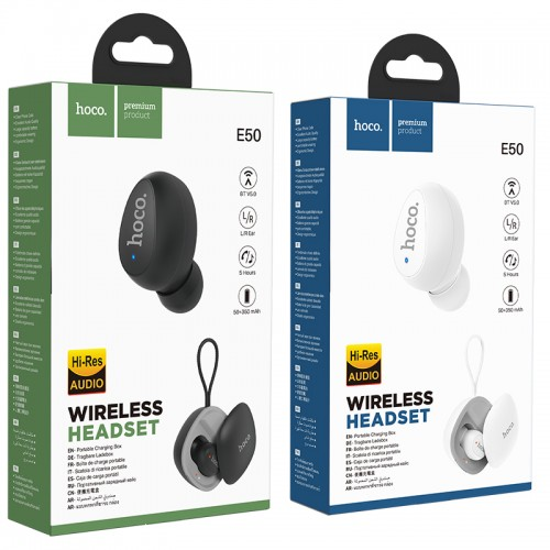 E50 Wise Mini Wireless Headset(With Charging Case)