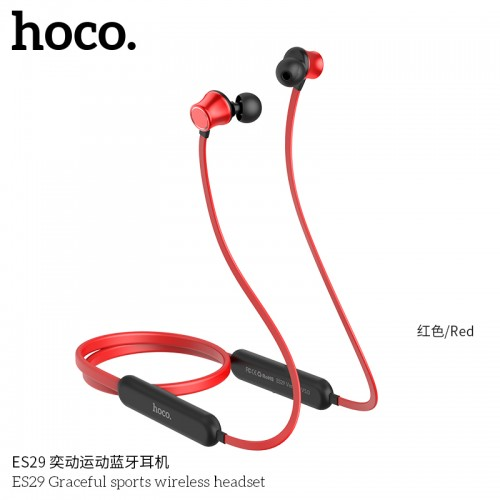 ES29 Graceful Sports Wireless Headset - Red