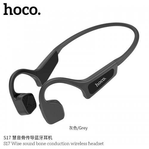 S17 Wise Sound Bone Conduction Wireless Headset - Grey