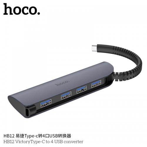 HB12 VictoryType-C To 4 USB Converter