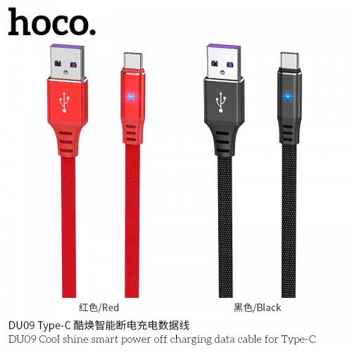 DU09 Cool Shine Smart Power Off Charging Data Cable For Type-C