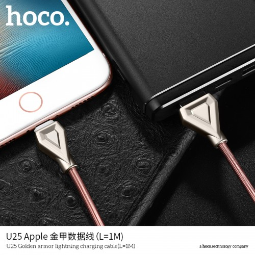U25 Golden Armor Lightning Charging Cable (1Meter)