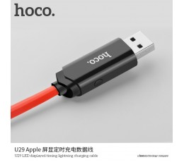 U29 LED Displayed Timing Lightning Charging Cable