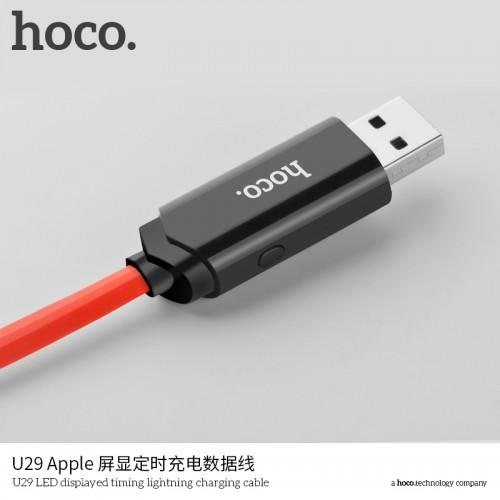 U29 LED Displayed Timing Lightning Charging Cable