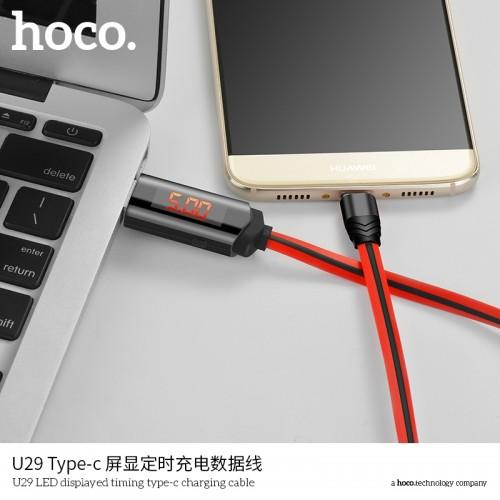 U29 LED Displayed Timing Type-C Charging Cable