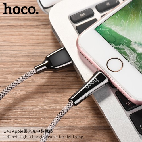 U41 Soft Light Charging Cable for Lightning