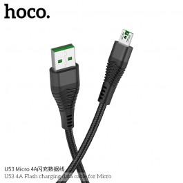 U53 4A Flash Charging Data Cable For Micro
