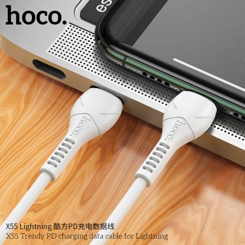 X55 Trendy PD Charging Data Cable For Lightning