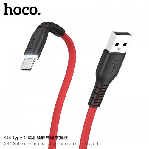X44 Soft Silicone Charging Data Cable For Type-C
