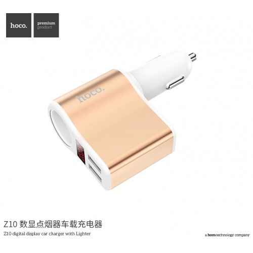 Z10 Cigarette-Lighter Car Charger with Digital Display