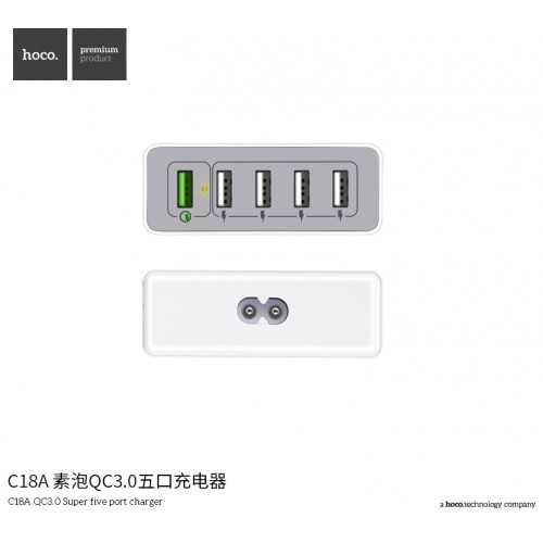 C18A QC3.0 Super Five Port Charger (UK)