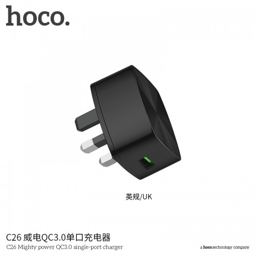 C26 Mighty Power QC3.0 Single-Port Charger (UK)