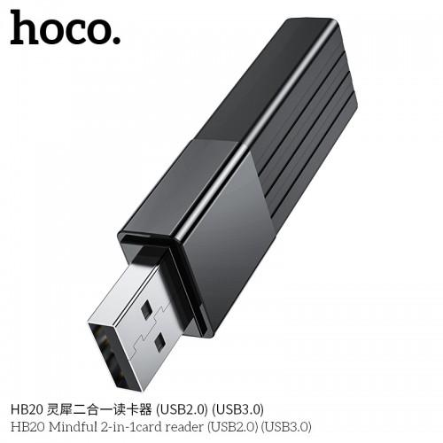 HB20 Mindful 2-in-1 Card Reader (USB3.0)