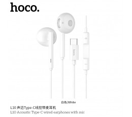 L10 Acoustic Type- C Wired Earphones With Mic