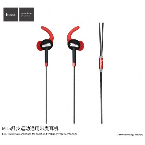 M15 Universal Earphones for Sport and Walking with Microphone