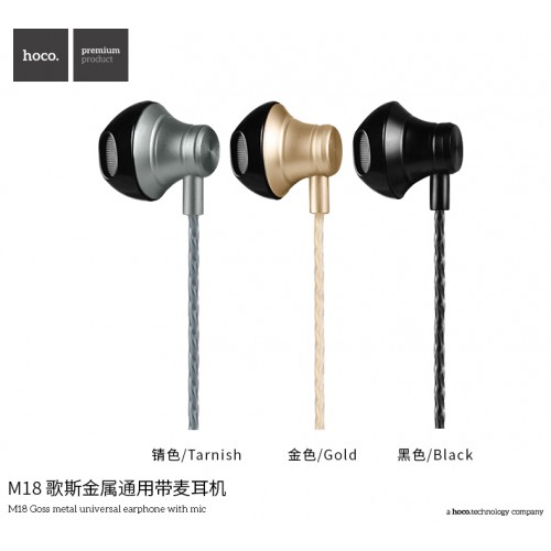 M18 Gesi Metallic Universal Earphone with Mic