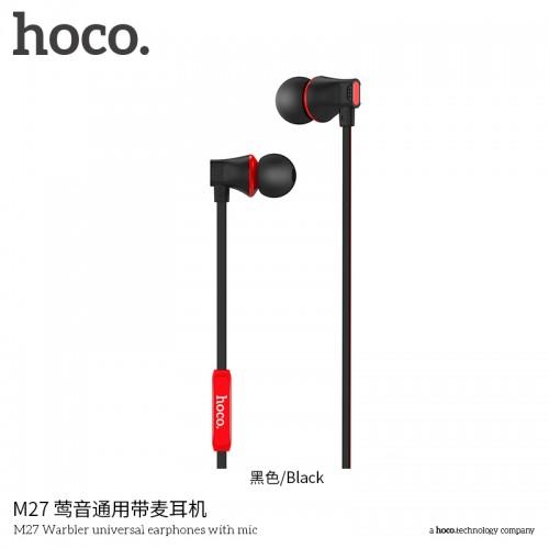 M27 Warbler Universal Earphones With Mic - Black