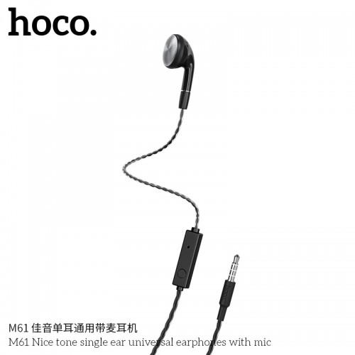 M61 Nice Tone Single Ear Universal Earphones With Mic