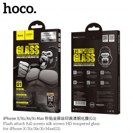 Flash Attach Full Screen Silk Screen HD Tempered Glass for iPhone Xs Max(G1)
