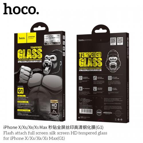 Flash Attach Full Screen Silk Screen HD Tempered Glass for iPhone XR(G1)