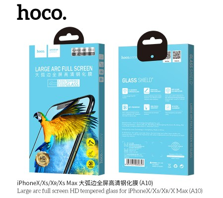 Large arc full screen HD tempered glass for iPhone XR(A10)