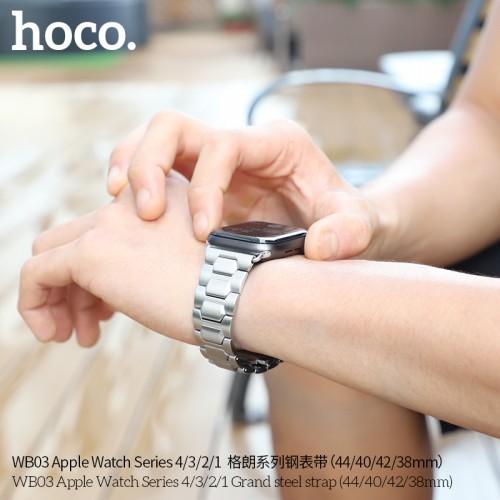 Apple Watch Series 4 WB03 Grand steel strap(40mm) - Black