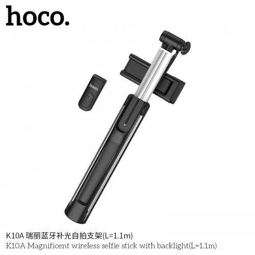 K10A Magnificent Wireless Selfie Stick With Backlight ( L = 1.1M )