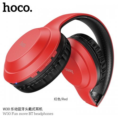 W30 Fun Move BT Headphones-Red