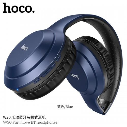 W30 Fun Move BT Headphones-Blue