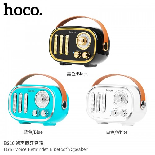 BS16 Voice Reminder Bluetooth Speaker